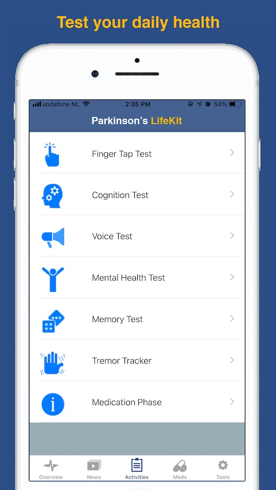 list your medications, set reminder alerts, and record doses